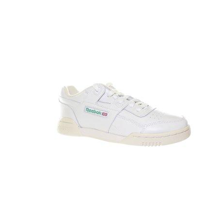 Reebok Womens Workout Lo Plus White Fashion Sneaker Size