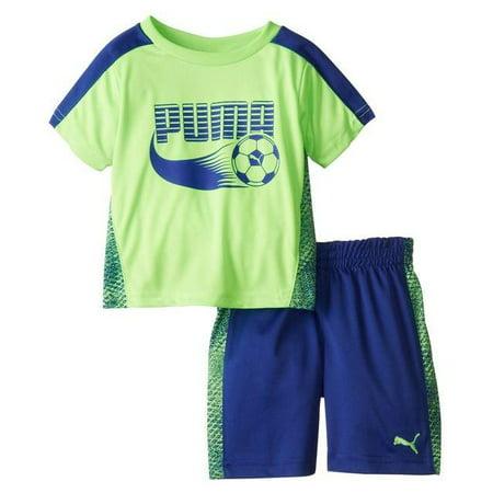 Puma Infants / Toddlers Soccer Set - Jersey Shirt & Shorts Combo (Home Kids Soccer Jersey)