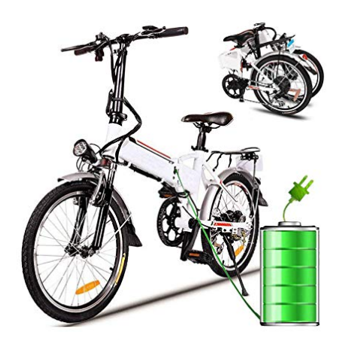 Kimimart Adult 7 Speed Folding Electric Mountain Bike