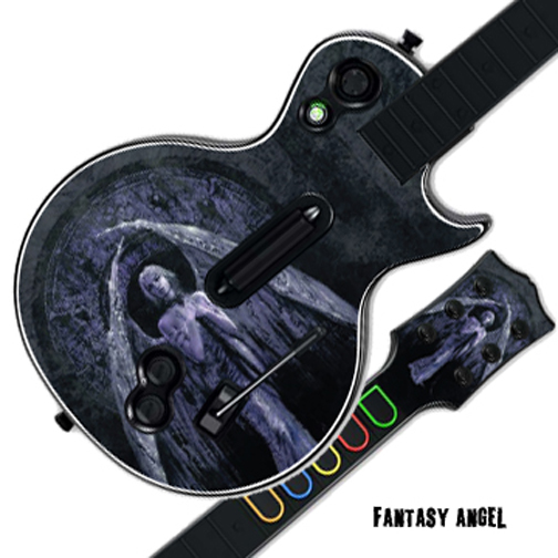 Mightyskins Protective Skin Decal Cover Sticker for GUITAR HERO 3 III PS3 Xbox 360 Les Paul - Fantasy Angel