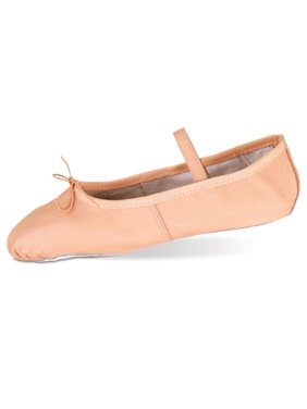 Danshuz Toddler Little Girls Pink Deluxe Leather Ballet Shoes Size 6-3