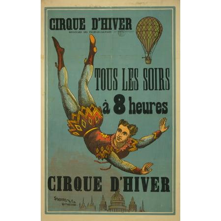 Morris Pre et Fils Print 1880-1900 Cirque dhiver Canvas Art - Morris Pre et Fils (18 x 24)