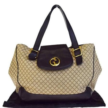 Monogram La Storia 22gr0222 Brown Canvas X Leather Shoulder Bag