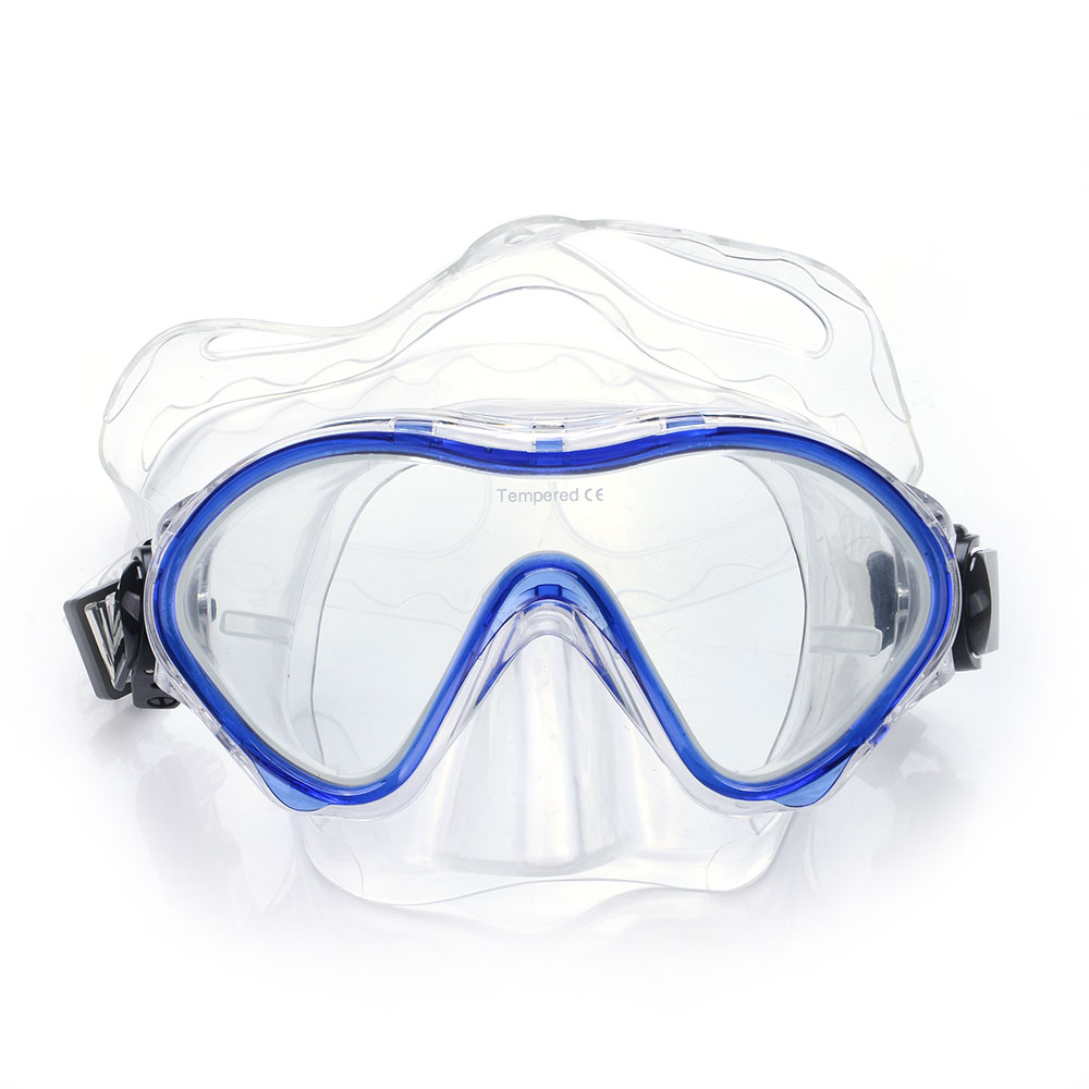 New Diving Mask Silicone Skirt Half Face Snorkeling Mask For Kid Tempered Glass by lumsing