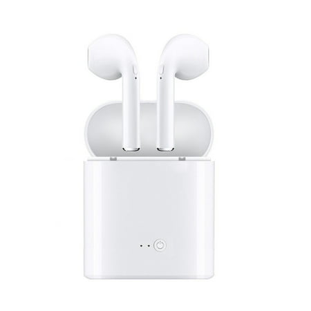Bluetooth Headphones, Wireless Earbuds Stereo Earphone Cordless Sport Headsets for iphone 8, 8 plus, X, 7, 7 plus, 6s, 6S Plus with Charging Case-White