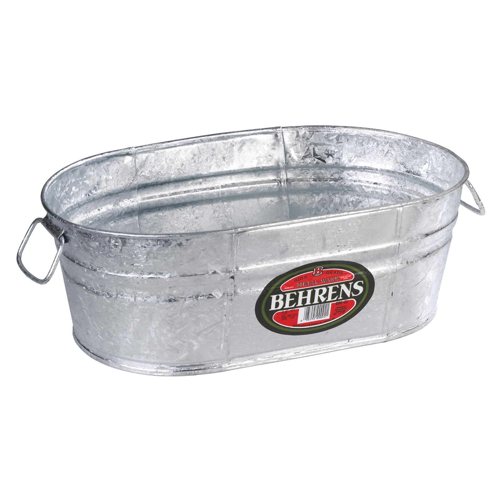 Behrens Hot Dipped Steel Oval Beverage Tub