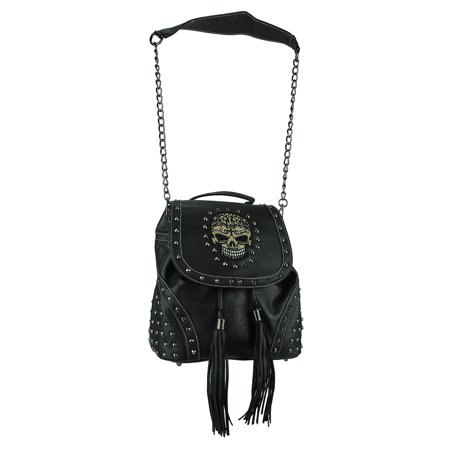 Studded Biker Skull Concealed Carry Convertible
