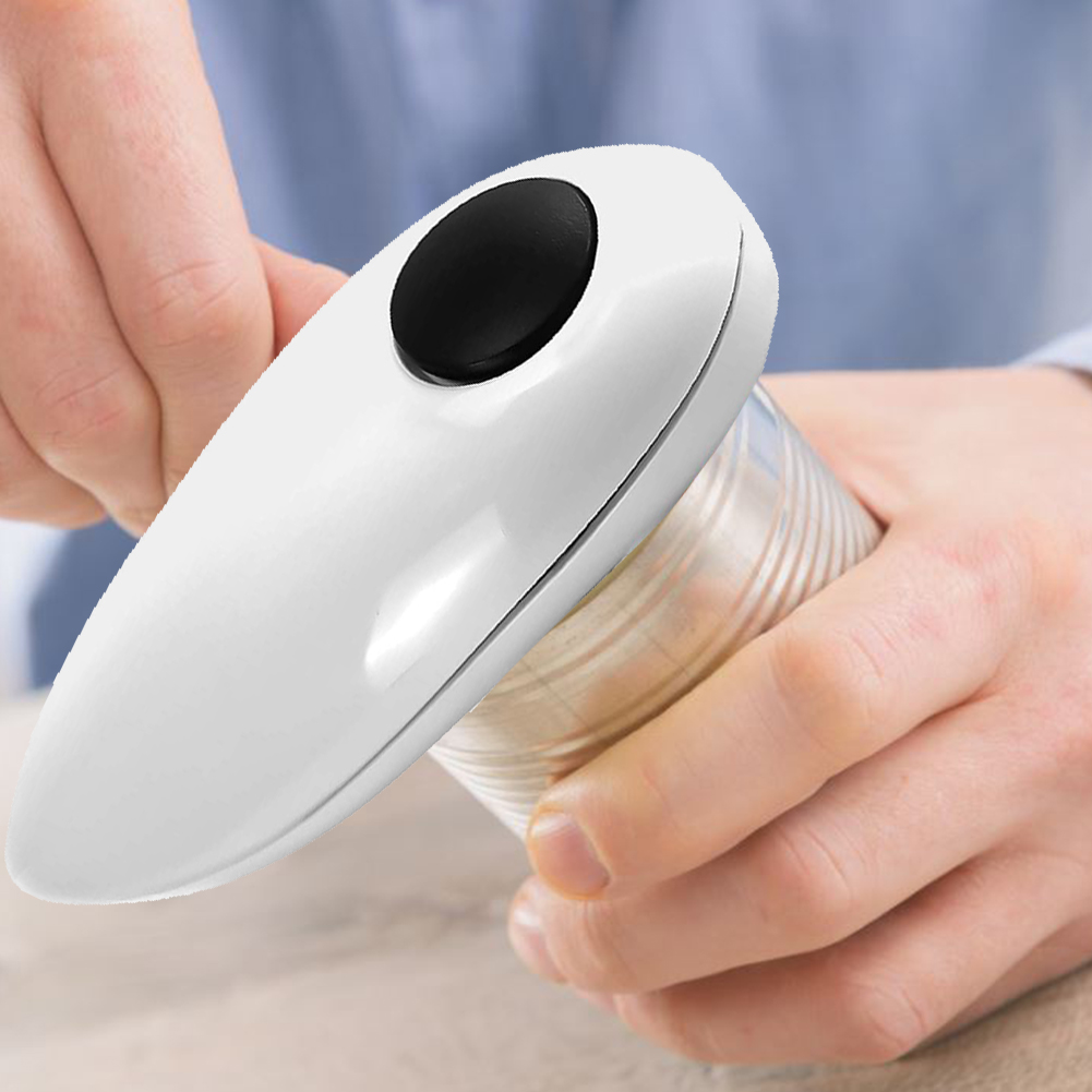 Electric Tin Can Opener Automatic One Battery Operated Open Tool