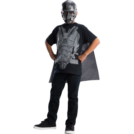Boys Man of Steel General Zod T-Shirt Cape Costume](Buy Superman Costume)