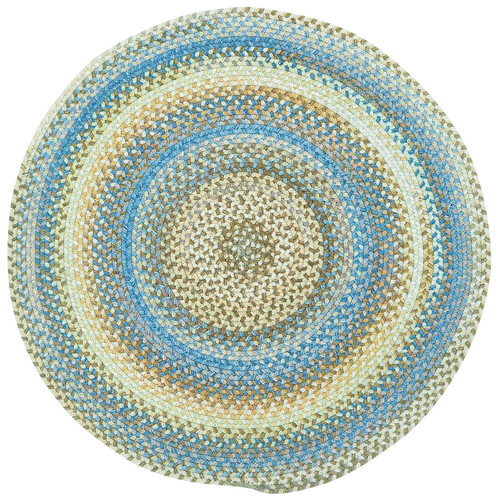 Capel Kill Devil Hill 0210 Braided Rug - Light Blue