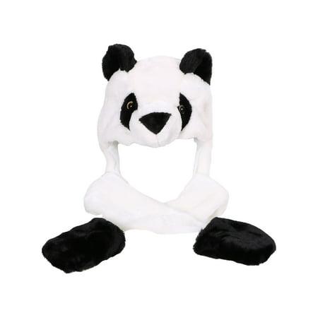 Winter Soft Animal Panda Hat with Mittens Unisex Cartoon Panda Hats - Panda Hat