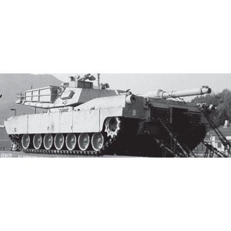 LAMINATED POSTER An M1A1 Abrams Main Battle Tank carried atop a flatbed rail car. Poster Print 24 x 36 M1a1 Abrams Main Battle Tank