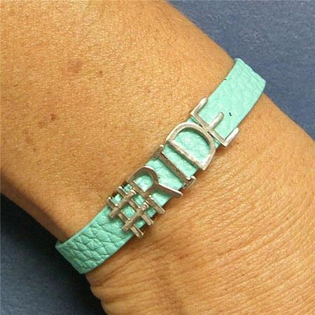 Equi-Ternatives 9834302512 Faux Ride Leather Bracelet, Brown - image 1 of 1