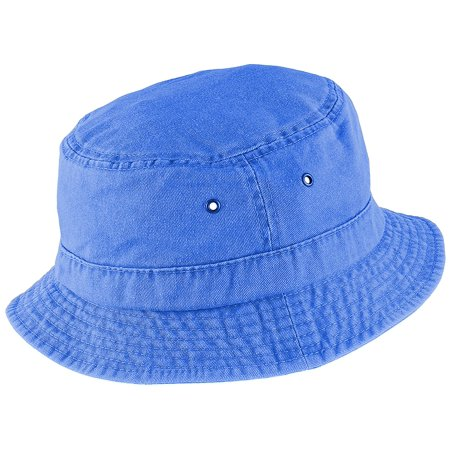123e89556ce Enimay - Enimay Unisex Printed Colored Bucket Hat Patterned Summer Sun Caps  Washed Blue Size S