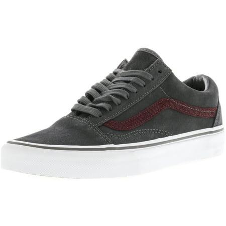 Vans Old Skool Reptile Gray Port Royal Ankle High Suede Skateboarding Shoe 9M 7.5M