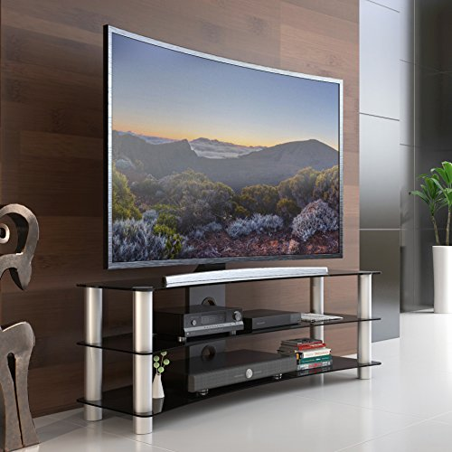 Fitueyes Universal TV Stand base with storage space and ...