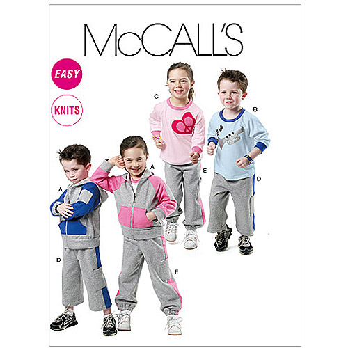McCall's Children's, Boys' and Girls' Jacket, Tops and Pants in 2 Lengths, CL (6, 7, 8)