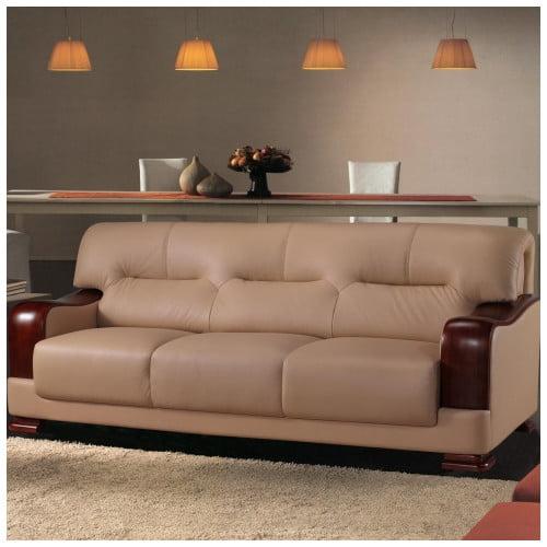 Hokku Designs Tourmaline Leather Sofa