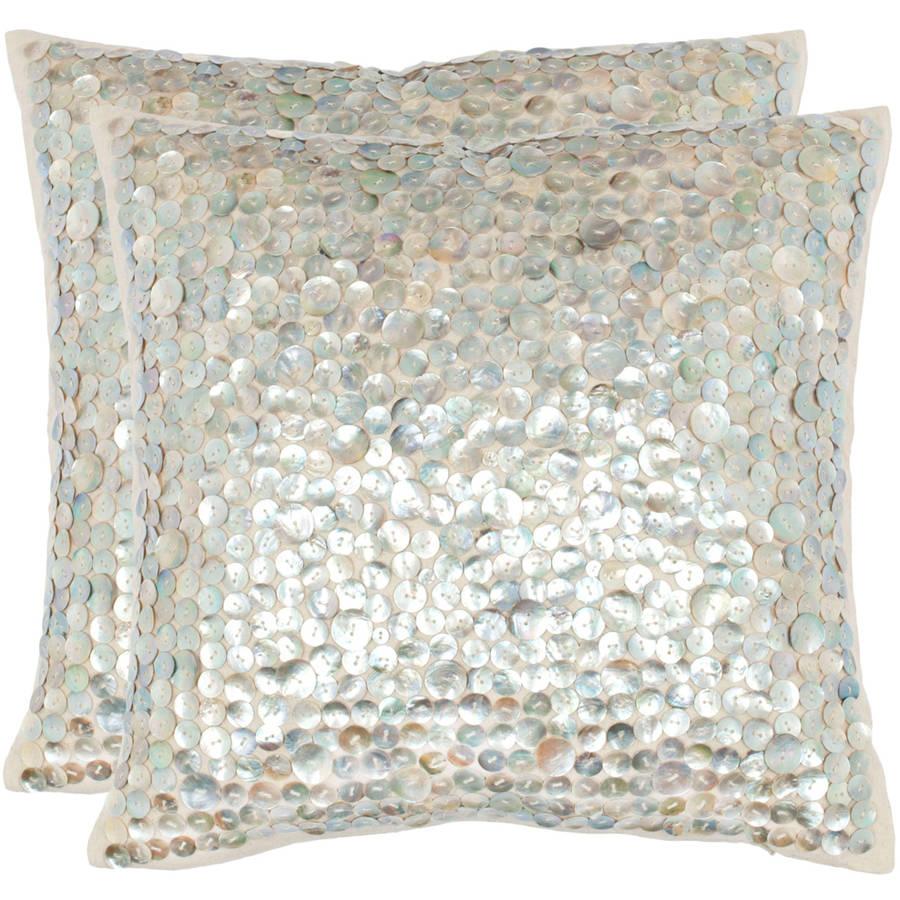 Safavieh Dialia Silver Pillow, Set of 2