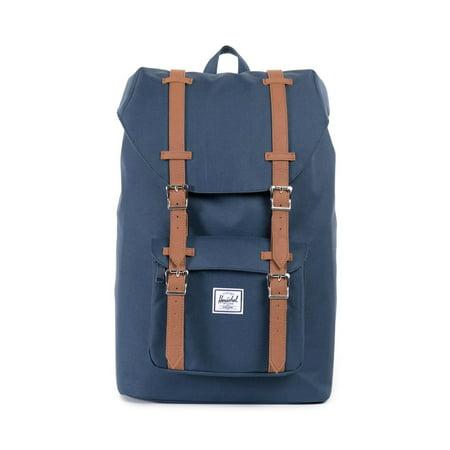 Herschel Supply Co. 10020-00007: Mid Volume Little America Navy Unisex Backpack - Navy Backpacks