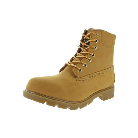 Rubicon Mens Leather Thermolite Work Boots Amber Leather Work Boots