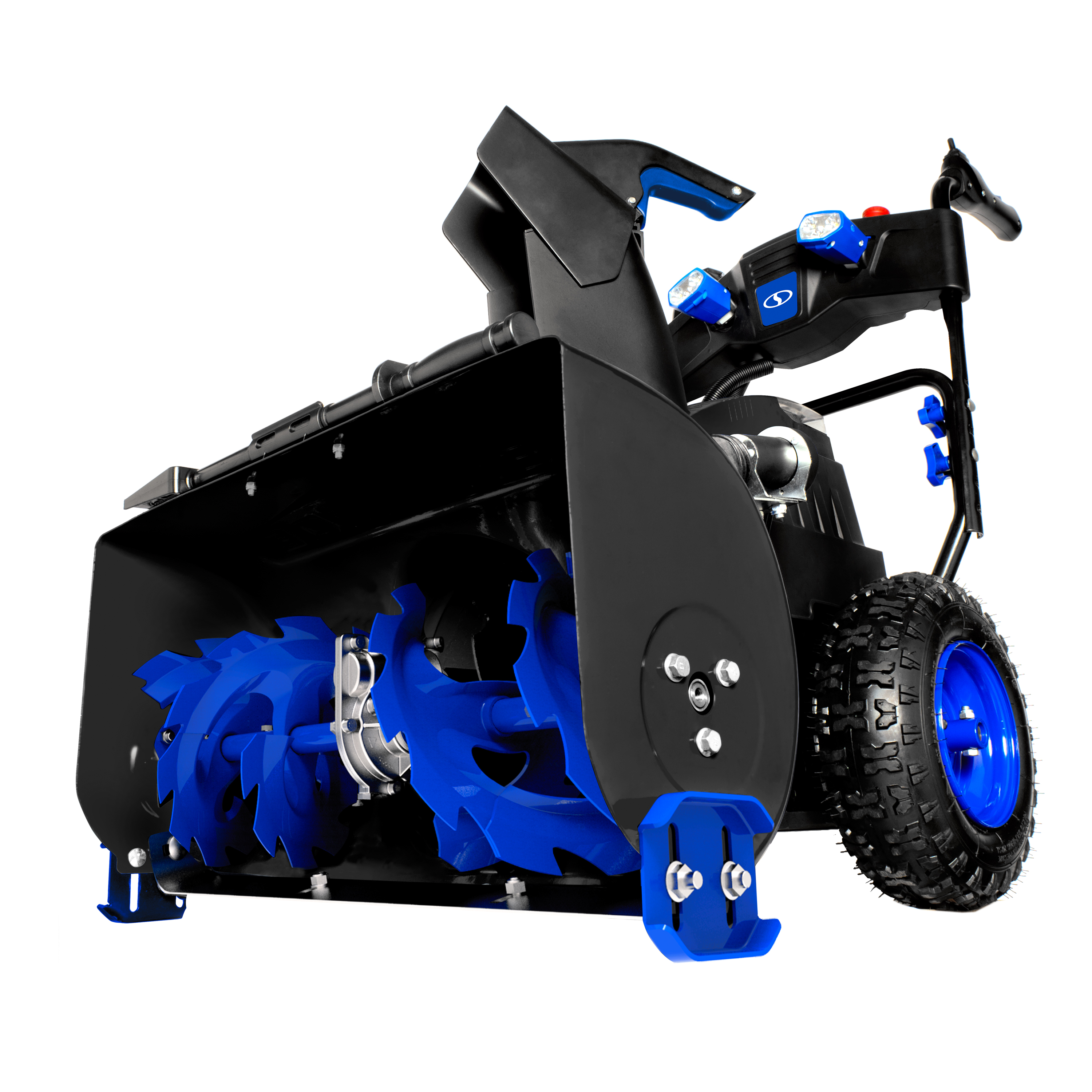 Snow Joe ION8024-XR Cordless Two Stage Snow Blower | 24-Inch · 80 Volt · 2 x 5 Ah Batteries | 4-Speed · Headlights