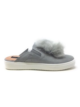 9790e34068 Product Image Steven By Steve Madden Womens Laguna Slip On Mule Clog Faux  Fur Grey Size 6.5 M
