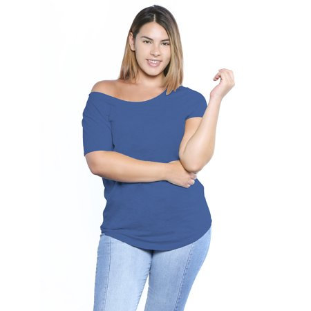 d43d9533b6882 Awkward Styles Off The Shoulder Shirt Women s Oversized Tshirt Plus Size  Clothing for Women Off Shoulder