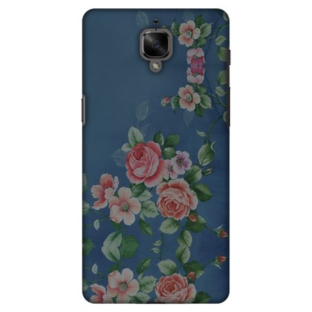 OnePlus 3T Case, OnePlus 3 Case - Rose Print Provencal, Hard Plastic Back Cover. Slim Profile Cute Printed Designer Snap on Case with Screen Cleaning