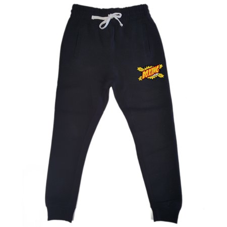 Men's Comic Boxing KT T25 Black Fleece Gym Jogger Sweatpants 2X-Large Black
