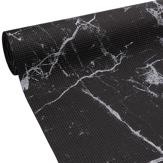 Oak Reed Ym4 1201 Black 4 Mm Reversible Yoga Mat Wrap Marble Black Multi Color Walmart Com Walmart Com
