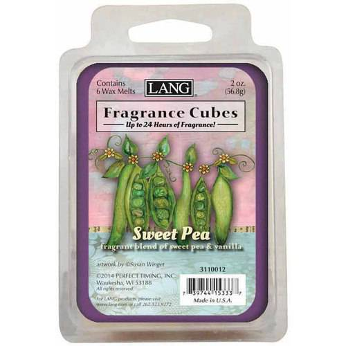 LANG Sweet Pea 2-Ounce Fragrance Cubes Scented with Fragrant Blend of Sweet Pea and Vanilla
