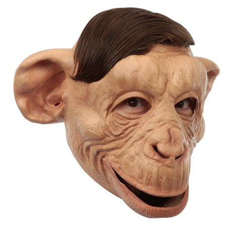 Adult Customizable Hairstyle Chimp Mask - Hairstyles For Halloween