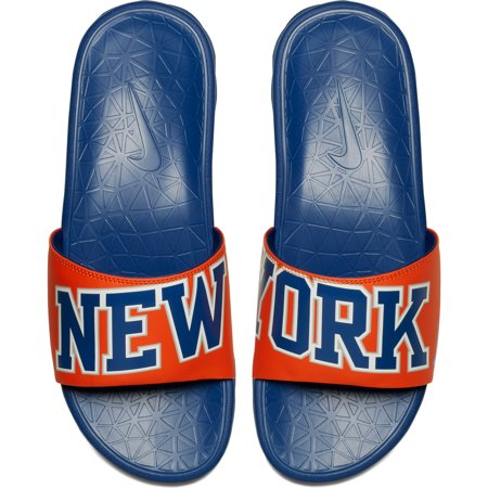 New York Knicks Nike Benassi Solarsoft NBA Slides - -