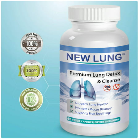 New Lung Respiratory Aid Lung Cleanse & Detox Supplement for Sinus Congestion Relief