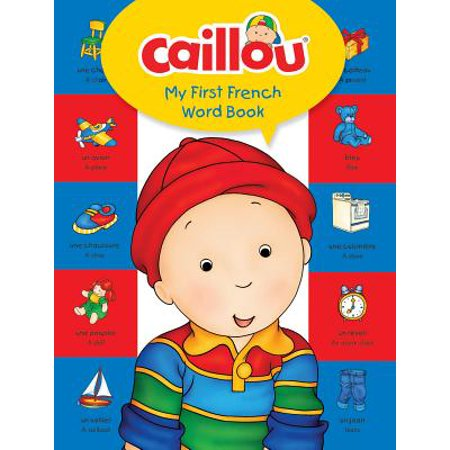 Caillou, My First French Word Book - 10 Halloween Words In French