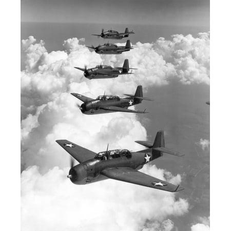 US Navy Torpedo Bombers NuS Navy Grumman Avenger Torpedo Bombers 1942 Poster Print by Granger (Us Navy Torpedo)