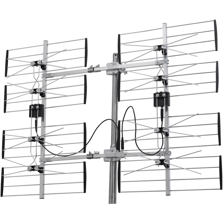 digiwave 8 bay ultra clear digital outdoor tv antenna ant7285 rh walmart com Homemade Digital TV Antenna Booster Homemade Omnidirectional TV Antenna