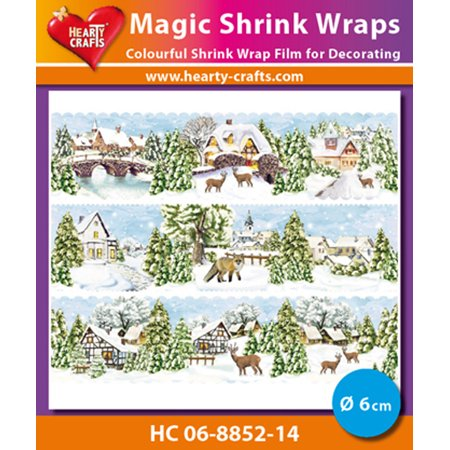 Hearty Crafts Magic Shrink Wraps. Winter Village (6cm) - Michaels Arts And Crafts Halloween Village