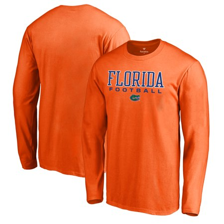 Florida Gators Fanatics Branded True Sport Football Long Sleeve T-Shirt - Orange (Football Long Sleeve Sport Shirt)