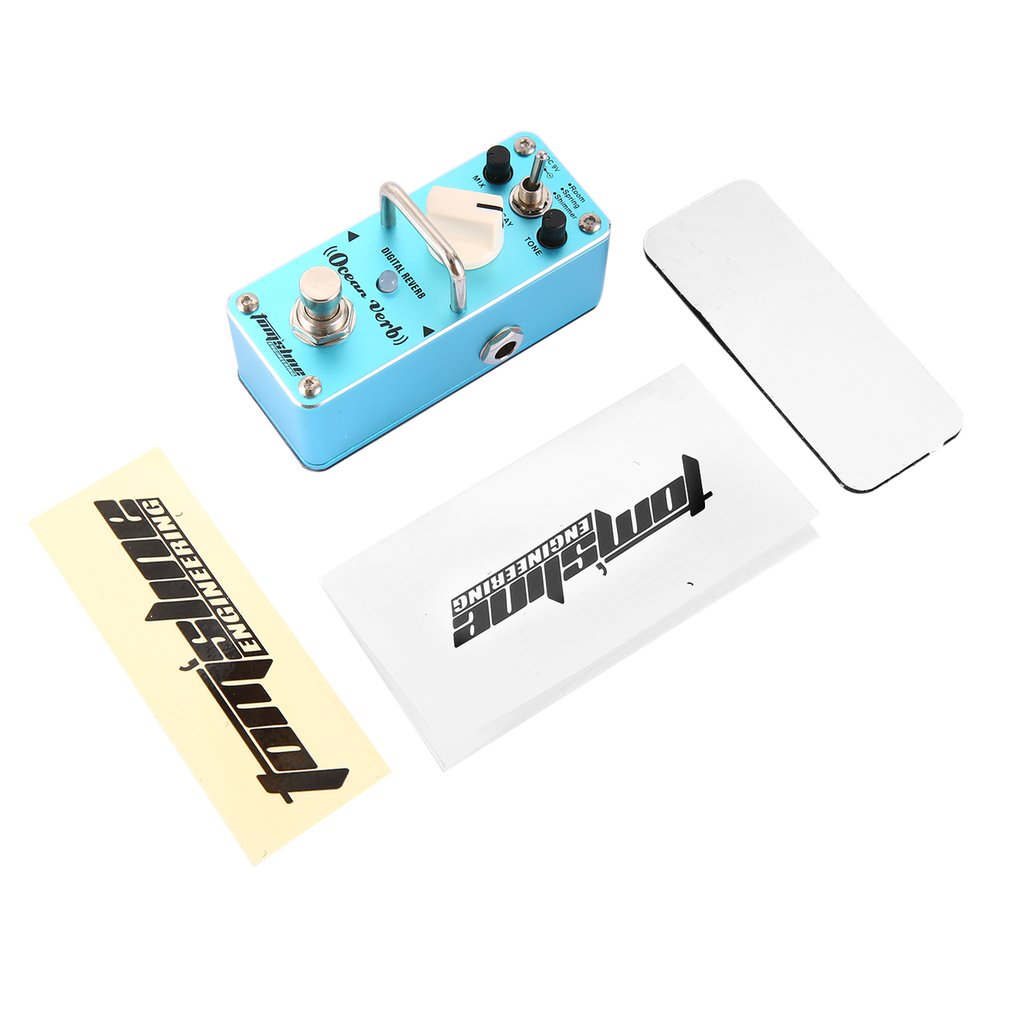 Aroma AOV-3 Ocean Verb Digital Reverb Effect Pedal Mini Guitar Equalizer by
