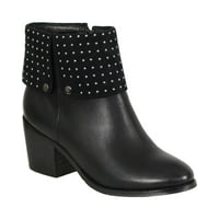 7ce2298e333e Product Image Milwaukee Leather Womens Black Side Zipper Round Toe Boots  with Studs
