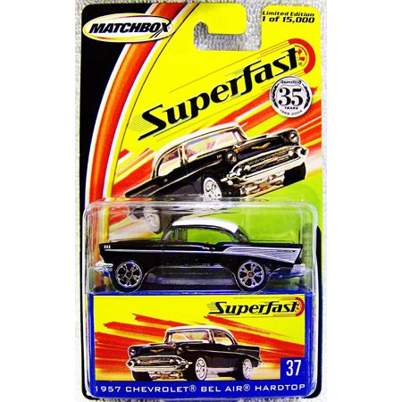 Matchbox Superfast 35th Anniversary Limited Edition 1957 Chevrolet Bel Air Hardtop #37 with Collectors Box, Matchbox Superfast series By 2004 Mattel Chevrolet Bel Air Hardtop