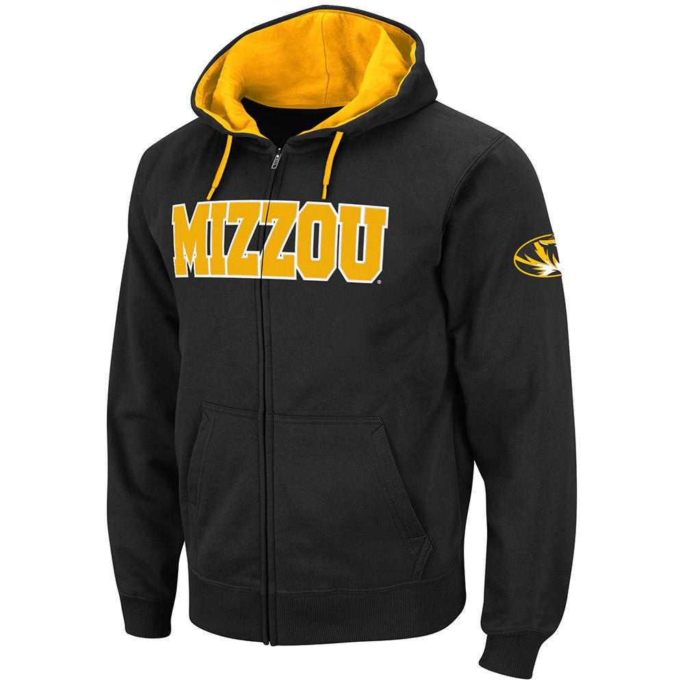 Mens Missouri Tigers Full Zip Hoodie S by Colosseum