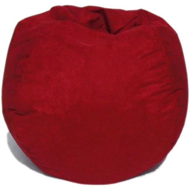 Bean Bag Boys BB-35-FS-LIPSTICK Faux Suede Bean Bag, Lipstick