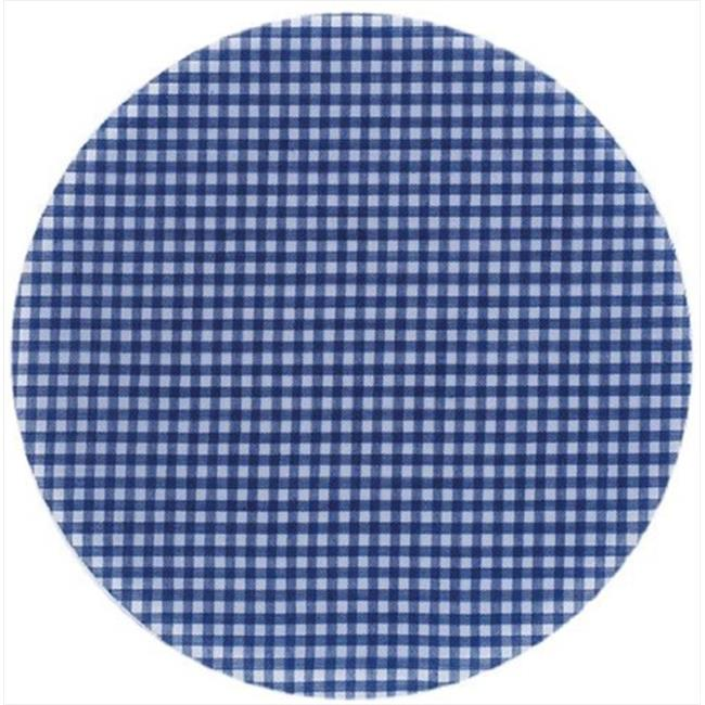 Andreas 10 inch Ginham Round Silicone Trivet - Pack of 3