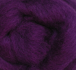 Wool Roving 12 .22 Ounce-Purple Multi-Colored