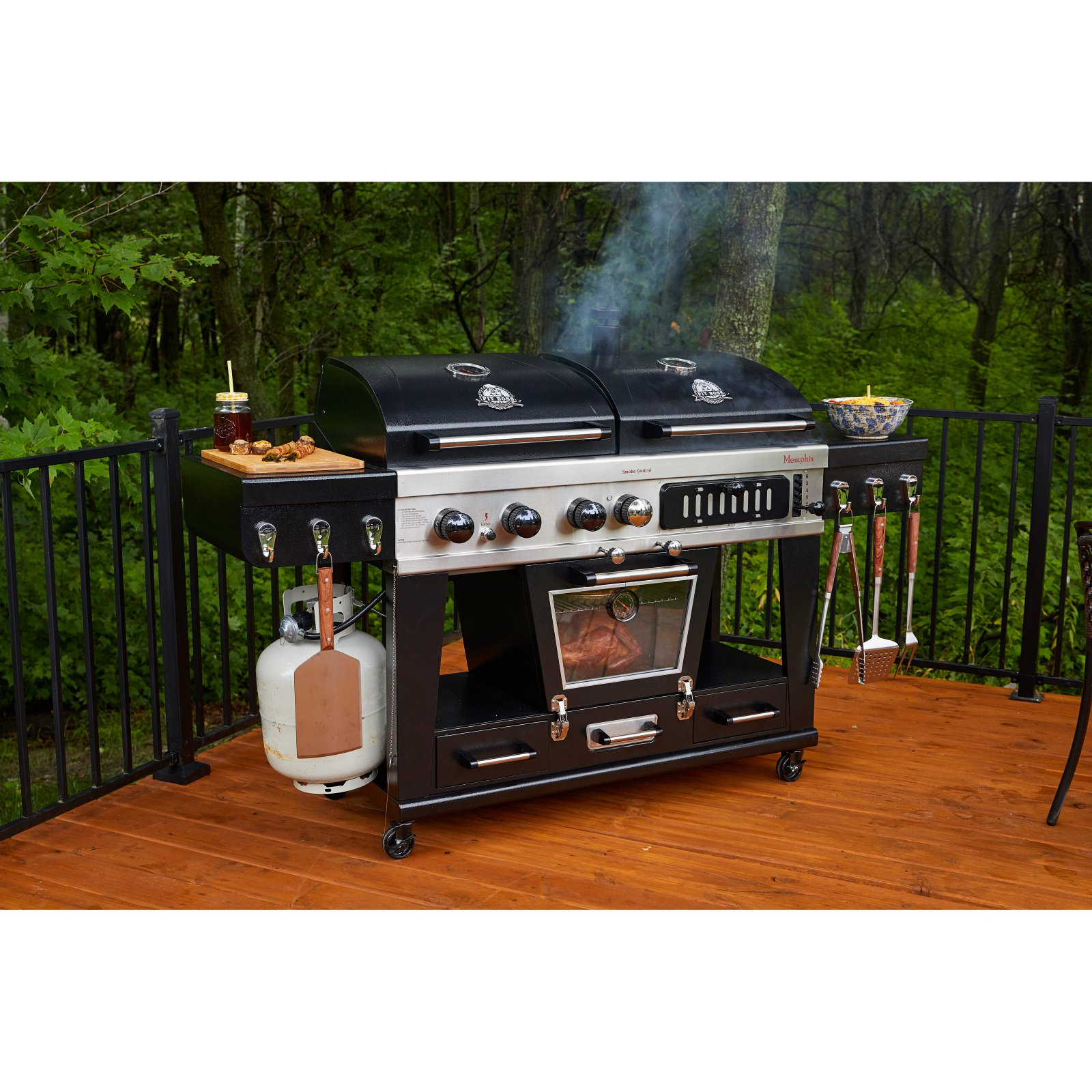 Pit Boss Memphis Ultimate 4 In 1 Gas Charcoal Grill With