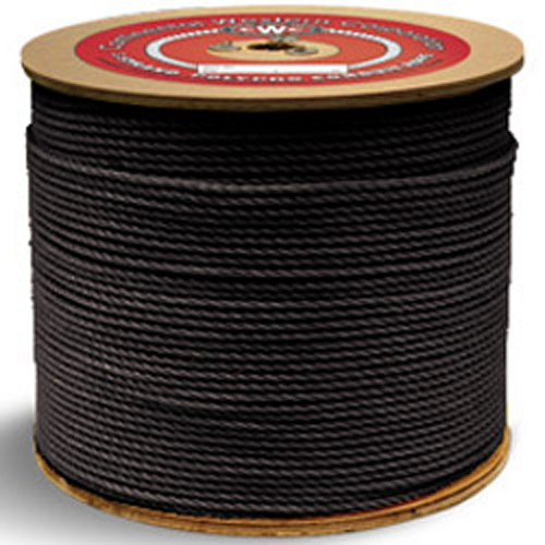 "CWC 3-Strand Polypropylene Rope - 1/4"" x 600 ft., Black"
