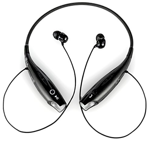 Inland Earset - Stereo - Black - Wireless - Bluetooth - 32.8 Ft - 20 Hz - Behind-the-neck, Earbud - Binaural - In-ear (87089)